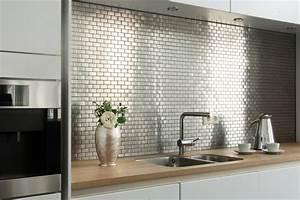 Edelstahlmosaik mosaikfliesen modern kuche other for Mosaikfliesen küche