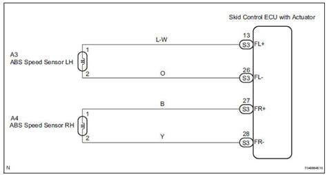 Toyota Sienna Service Manual Front Speed Sensor