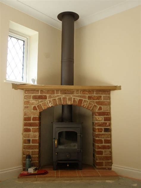 wood burning corner fireplaces clearview pioneer 400 wood burning stove with brick and