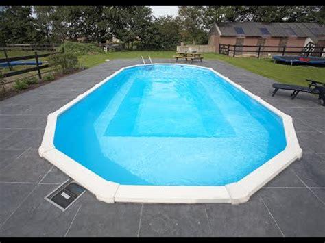 pool oval stahlwand ovalbecken freistehend ovalpool stahlwandpool schwimmbecken einbau