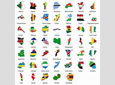 47 African Country Flags stock vector Illustration of
