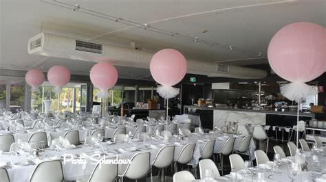 balloon table centrepieces and bouquets party splendourparty splendour