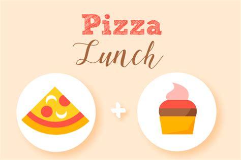 pizza lunch flower school