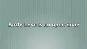 Love Is An Open Door - Lyrics (Frozen) ♡ - YouTube