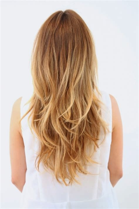 Layered Haircuts For Long Hair Back View Blonde Long