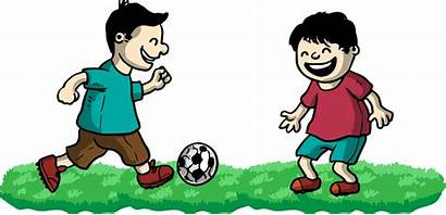 Playing Friends Play Football Clipart Clip Boys