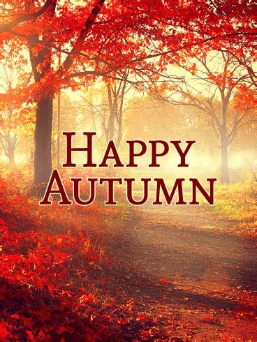 time  pretty autumn leaves autumn card birthday