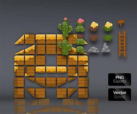 desert lands platform tileset game art partners