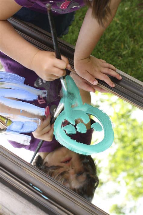 painting   mirror outdoor art activity