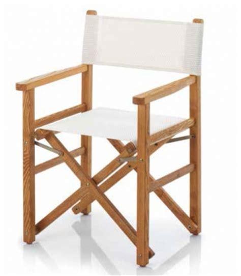 chaise de metteur en scène fauteuil metteur en scène bois et toile pliant ramberti