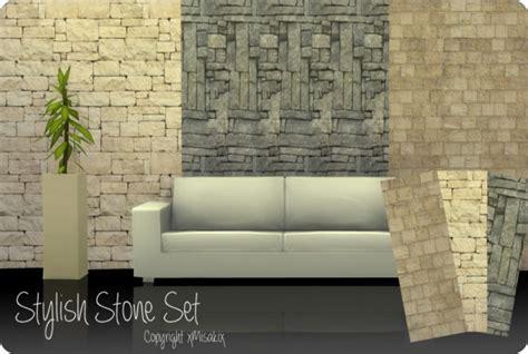 xmisakix sims wood  stone wall sets sims  downloads
