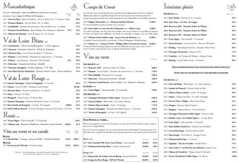 Carte Des Vins De by Exemple Carte De Vin Restaurant The Best Cart