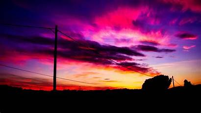 Sky Sunset Clouds 4k Wire Qhd Background