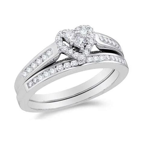 alluring heart ring halo cheap diamond wedding ring set