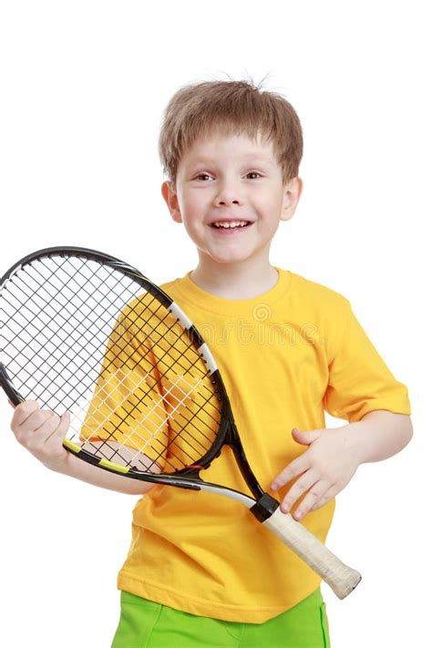 With paul haapaniemi, dannikke walkker, brandon willer. Little Boy Holding A Tennis Racket, Close-up Stock Image - Image of female, expression: 55718541