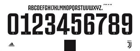 Juventus 2019 Font