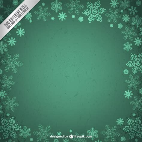 grunge frame with snowflakes vector free