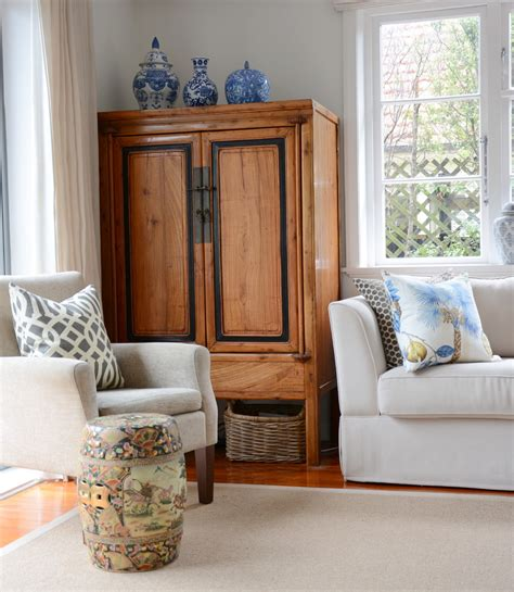 Armoire In Living Room Antique Armoire Trend Auckland Traditional Living