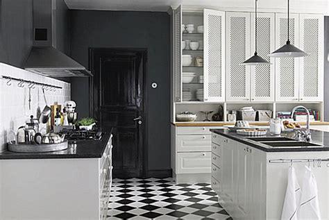 black and white linoleum cuisine bistrot 23 idées déco pour un style bistrot