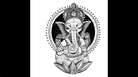 drawn elephant buddha pencil   color drawn elephant