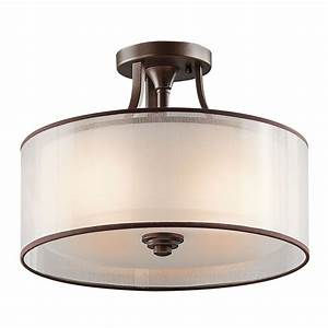 Ceiling lighting semi flush mount light interior