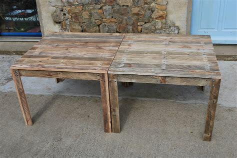 Chaise Haute D 39 Exterieur En Palette Table De Jardin En Palette Au Bout Du Bois