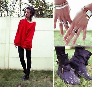 Adeline Rapon - American Apparel Oversized Sweater ...