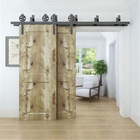 Fabulous Bypass Barn Door Hardware With Winsoon 5 16ft