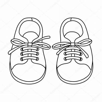 Shoes Pair Drawn Illustration Hand Shoe Vector