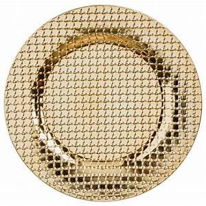 Lot D Assiette : lot de 12 dessous d 39 assiette relief or d coration pour la table eminza ~ Teatrodelosmanantiales.com Idées de Décoration