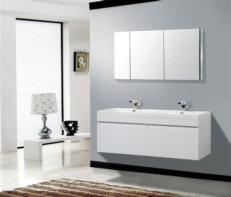 Aqua Decor Hailey 56inch Double Modern Bathroom Vanity