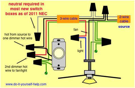 Wiring Diagram Dimmer Fan Light Kit Housing