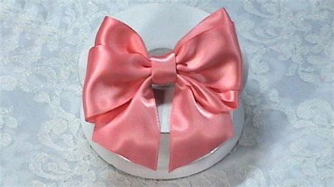 make a bow out of ribbon diy ribbon bow diy make hair bow tutorial bow tie variant 2 youtube