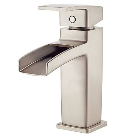 brushed nickel kenzo single control trough bath faucet lg dfk pfister faucets