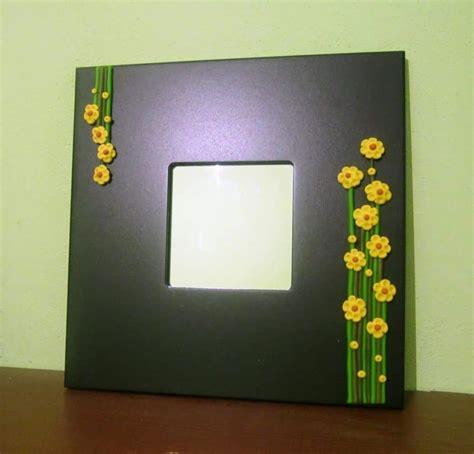 mirror frame flower simple craft ideas