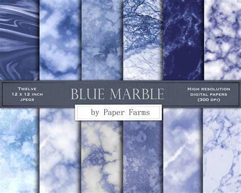blue marble digital paper blue marble scrapbook paper blue