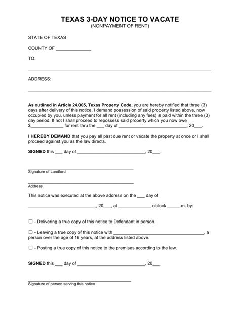 free 3 day notice form template free 3 day notice to pay or quit 3 day notice