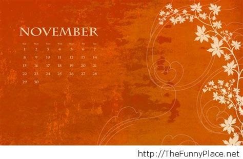 november wallpapers  calendar thefunnyplace