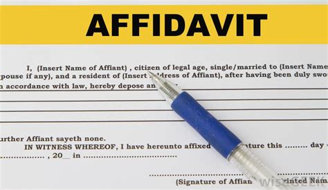 sworn affidavit  pictures