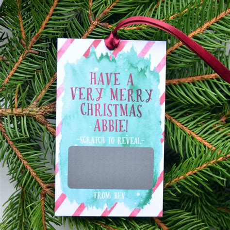 personalised merry christmas scratch card tag by philly brit notonthehighstreet com