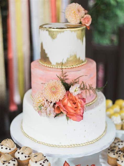 25 Gorgeous Flower Covered Wedding Cake Ideas Peach