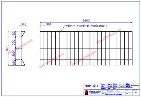 gambar pagar brc tinggi cm   mm