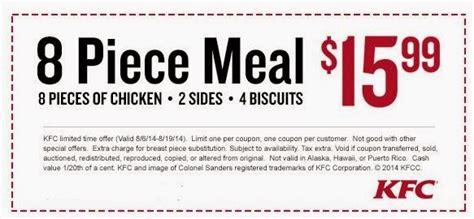 kfc coupons specials coupon codes blog