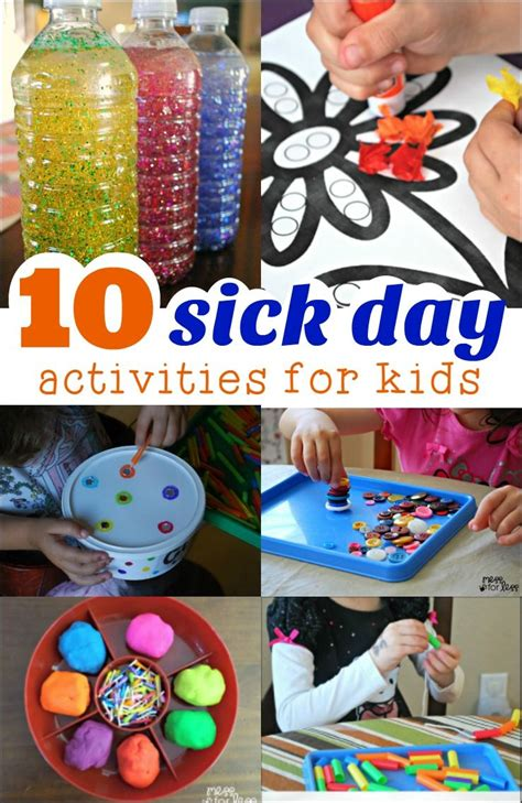 sick day activities fun activities  kids craft