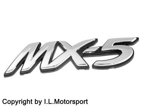 mazda mx 5 logo mx 5 emblem quot mx 5 quot schriftzug nc