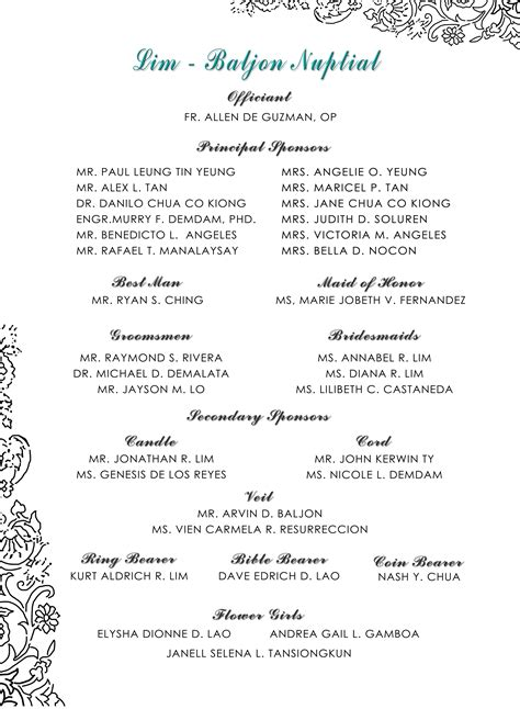 invitationpagesponsors andrew madel  wedding