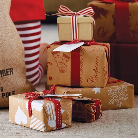 Recycled Brown Christmas Wrapping Paper By Sophia Victoria