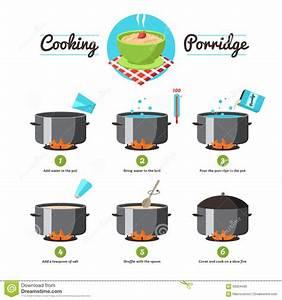 Instructions For Cooking Porridge Stock Vector