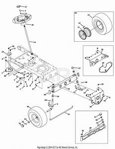 Mtd 13w2775s031  Lt4200   2014  Parts Diagram For Front