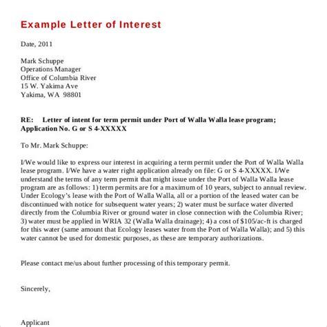 amazing   letter  interest letter format writing